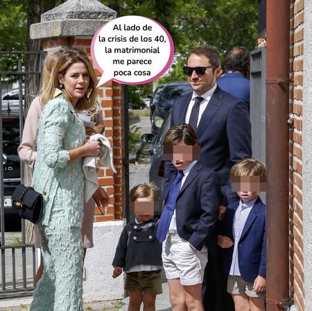 Amelia Bono celebra su 40 cumpleaños junto a sus cuatro hijos y a su exmarido tras anunciar su separación de Manuel Martos