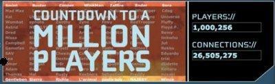 Nintendo WIFI, 1 millón de jugadores