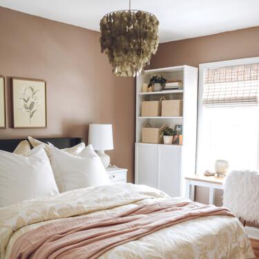 Antes y después: dormitorio y oficina con mucha luz, un dos en uno muy práctico en tiempos de pandemia