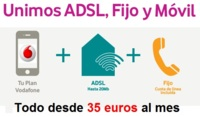 Vodafone rebaja el ADSL indirecto con REDvolución a 35 euros