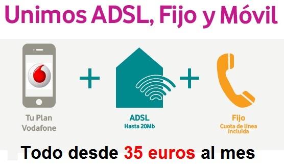 ADSL, fijo y Móvil Vodafone acceso directo e indirecto con REDvolución