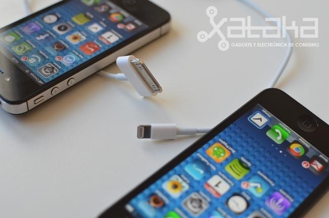 iphone 5 nuevo conector junto al antiguo