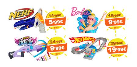 Descuentos de hasta el 60% en la juguetería Drim: Nerf, Barbie, Hot Wheels y muchas otras marcas