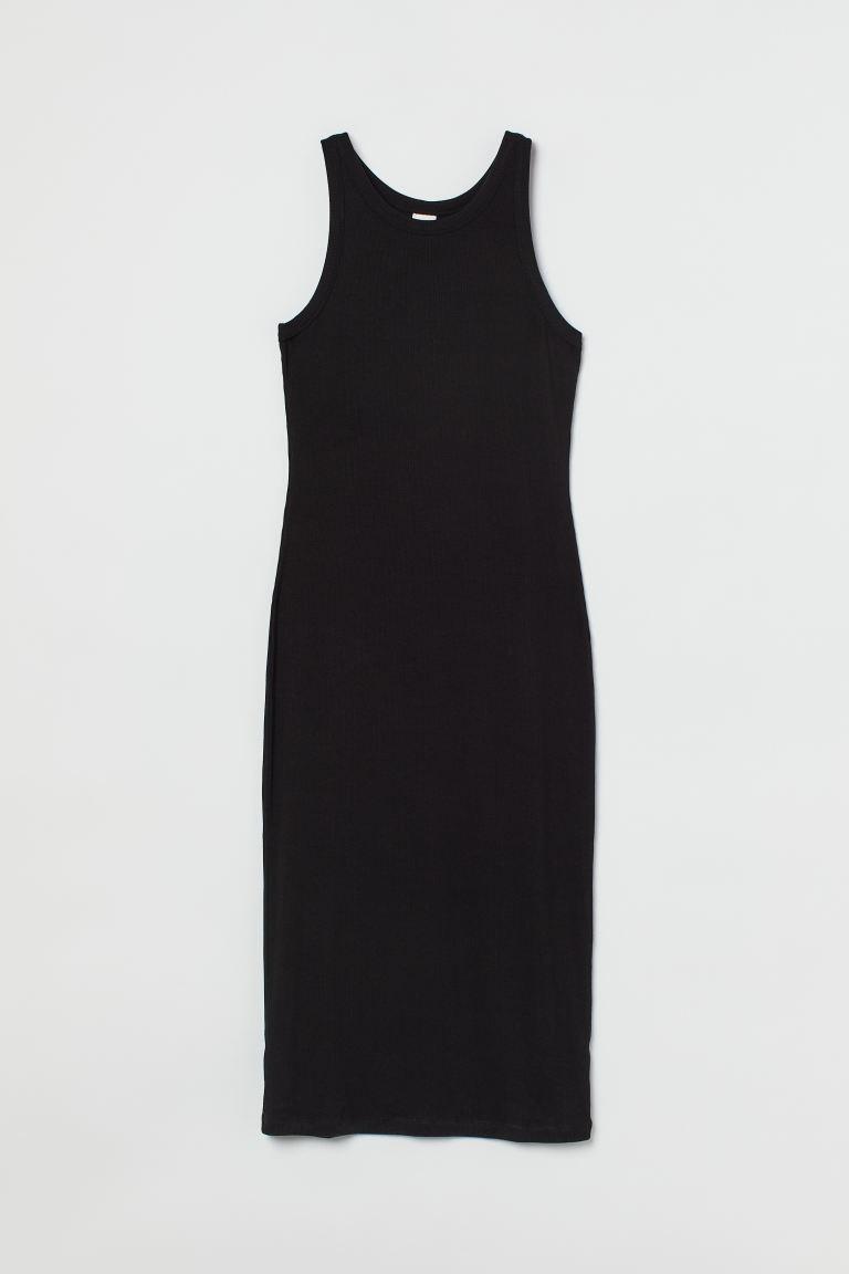 Vestido en punto de canalé de H&M