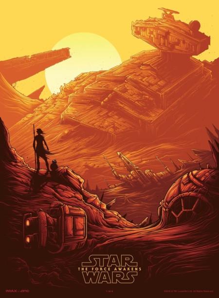 El póster para salas IMAX de Star Wars 7