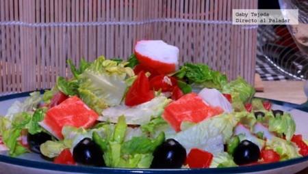 Receta: Ensalada de surimi con mil islas casero