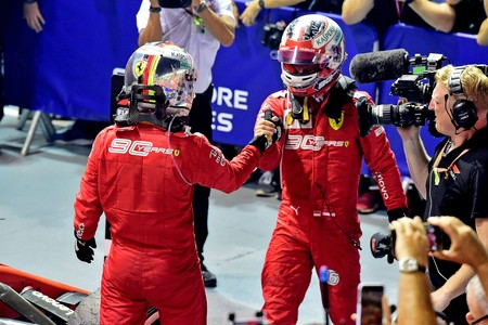 Vettel Leclerc Singapur F1 2019