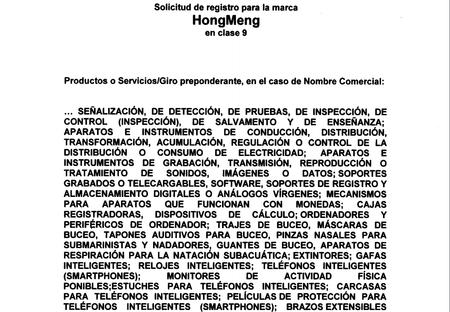 Hongmeng Registro Mexico Impi