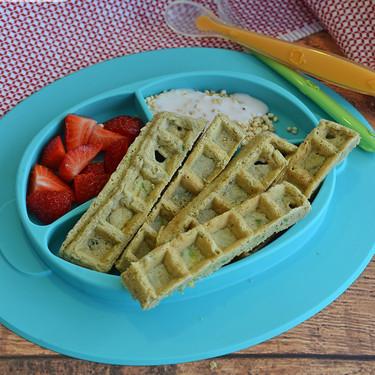 Waffles de calabacita con especias. Receta para bebés y niños