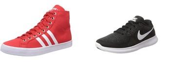 Ofertas en tallas sueltas de zapatillas Adidas, Nike, Puma o Quiksilver por menos de 30 euros en Amazon
