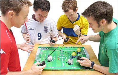 Robots jugadores de futbol