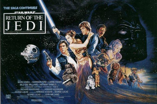 El cartel de Star Wars: El Retorno del Jedi