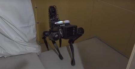 Así es como un perro robot de Boston Dynamics exhibe presta ayuda en una obra de construcción
