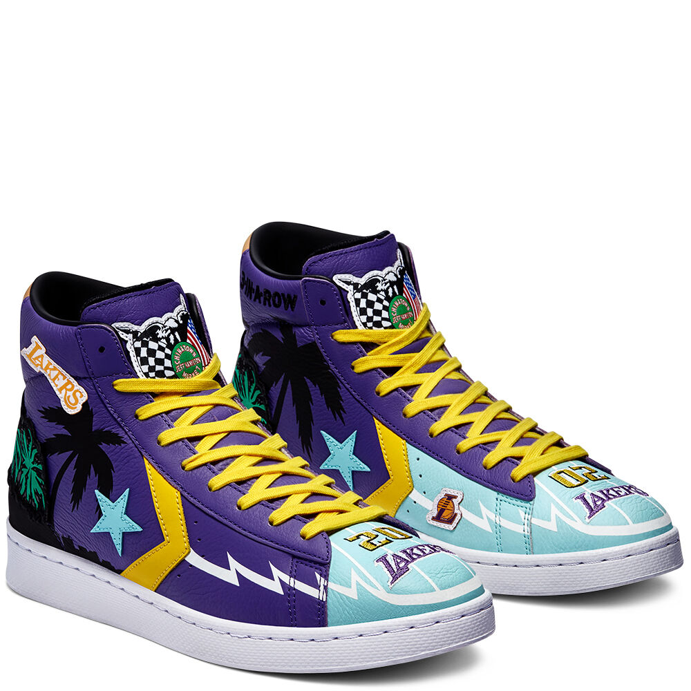 """Converse x Chinatown Market """"Lakers Championship Jacket"""" Pro Leather High Top"""
