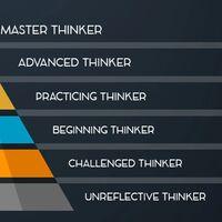 Según este modelo hay hasta seis niveles de pensamiento crítico: de pensadores irreflexivos hasta pensadores maestros
