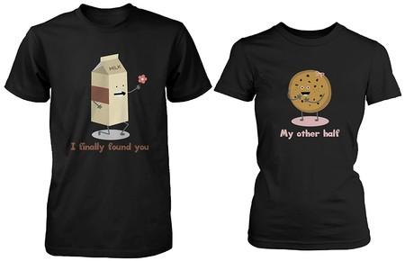 Cute A Juego Par Camisas Leche Y Chocolate Chip Regalos Para Parejas