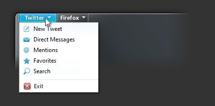 mozilla firefox 5 mockup interfaz twitter funciones