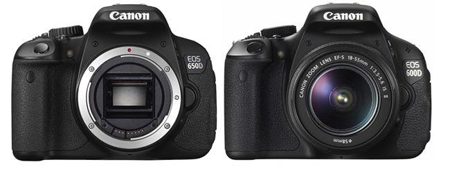 Canon 650D frente a Canon 600D