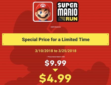 Nintendo celebra el 'Mario Day': Super Mario Run estará a mitad de precio a partir del sábado