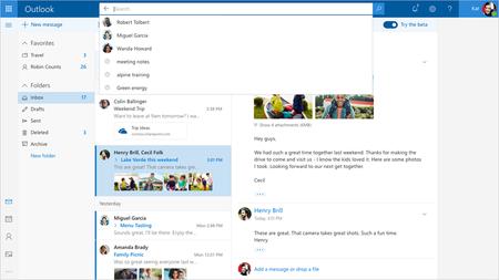 Microsoft trabaja en una renovación de Outlook.com y si quieres ya puedes probarla con sólo pulsar un botón