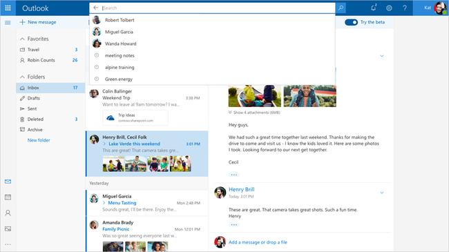 Outlook Com Beta 1