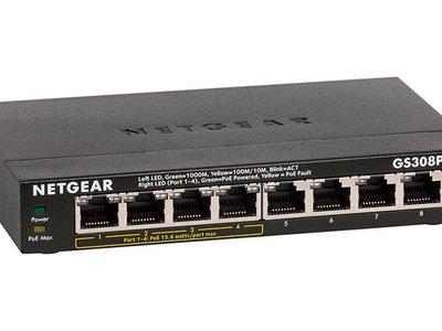 Si te faltan puertos Ethernet, sólo durante unas horas, tienes el switch Netgear GS308P-100PES rebajado en Amazon a 70,75 euros