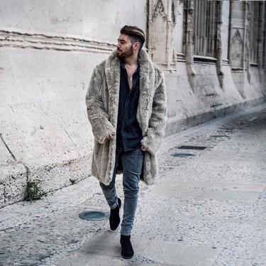 El mejor street style de la semana apuesta por el abrigo de pelo para este invierno