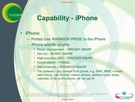 Espionaje iPhone