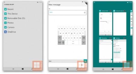 Nuevas capturas de Windows 10 para móviles revelan un nuevo cambiador de aplicaciones y otras mejoras
