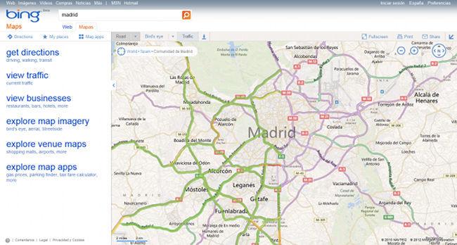 Bing Maps tráfico