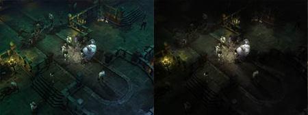 Diablo III - Radio de luz en las mazmorras