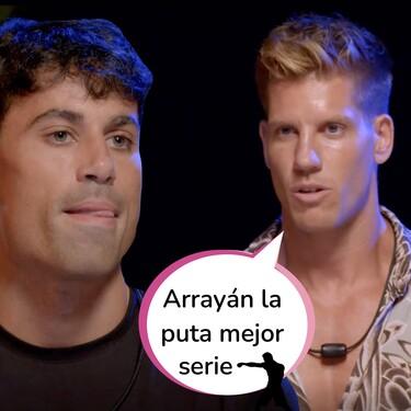 Así ha sido el agresivo cara a cara entre Diego James Lover y Carlos en la hoguera sin imágenes de 'La Isla de las Tentaciones 3'
