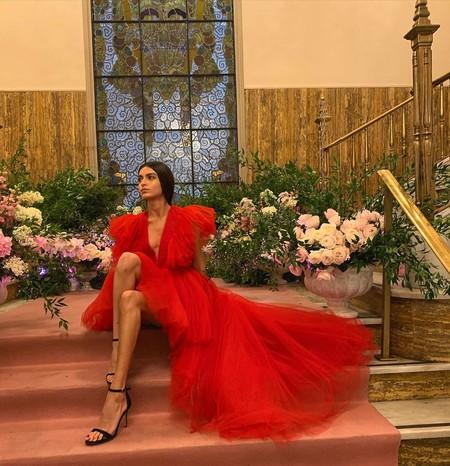 Giambattista Valli Hm Red Dress Tulle 11