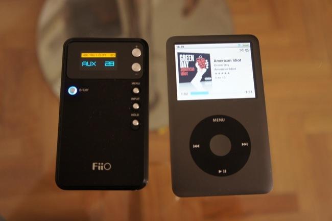 FiiO E17 comparado con el iPod Classic