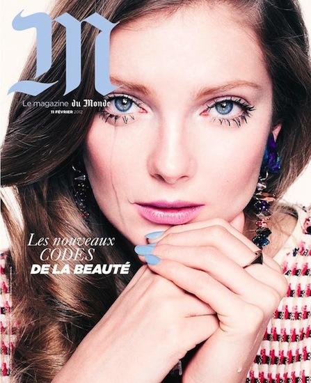 Uñas en color pastel en la portada M Le Monde