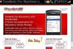 ToodledoBB, tareas en la nube desde tu Blackberry
