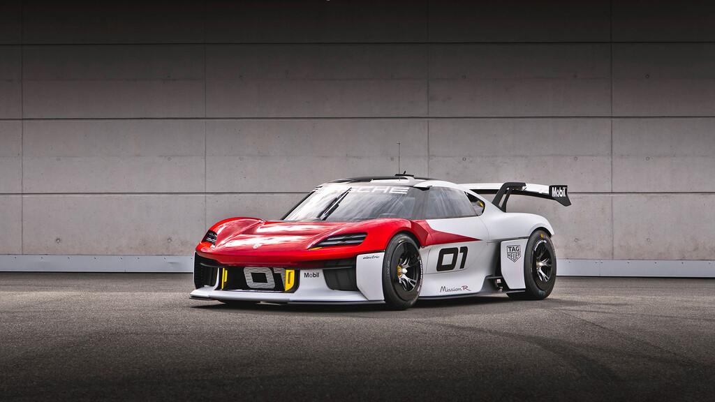 Porsche Mission R: el prototipo de competición 100% eléctrico con el que prometen hasta 1.088 CV y un 75% de carga en 15 minutos