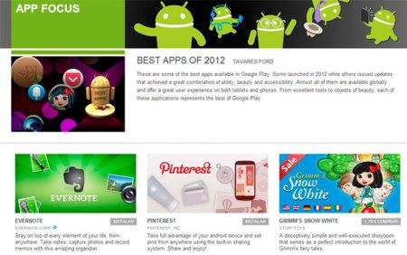 Google selecciona las diez mejores aplicaciones y juegos Android de 2012, ¿adivinas cuáles están en la lista?