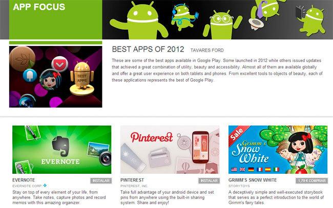 Aplicaciones Google 2012