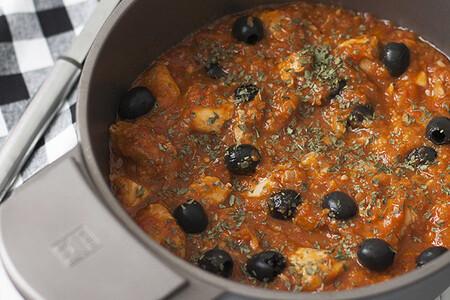Pollo en salsa de Aceitunas