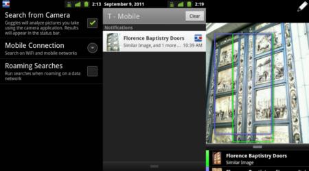Google Goggles 1.6 hace inteligente a la cámara de fotos de tu Android
