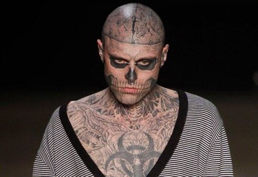 Rick Genest 'the Zombie boy', el nuevo chico 'it'