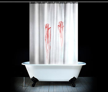 Halloween: cortina de ducha ensangrentada