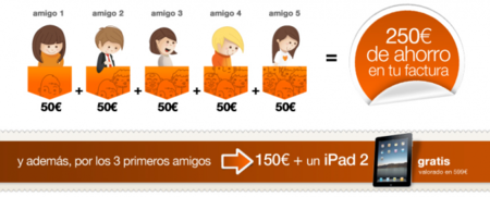 Hasta 250 euros de descuento y un iPad 2 por captar nuevos clientes de ADSL Orange