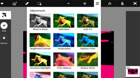 Ajustes de imagen con Photoshop Touch