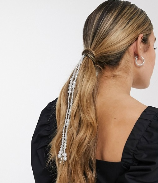 Pack de 2 pinzas para el pelo con perlas y brillantes