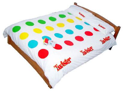 Edredón Twister, a la cama a jugar