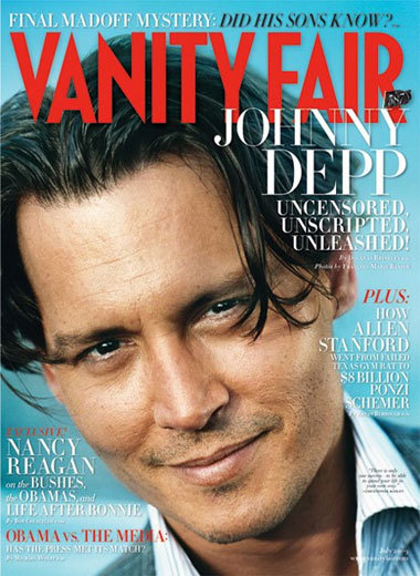 Johnny Depp para Vanity Fair