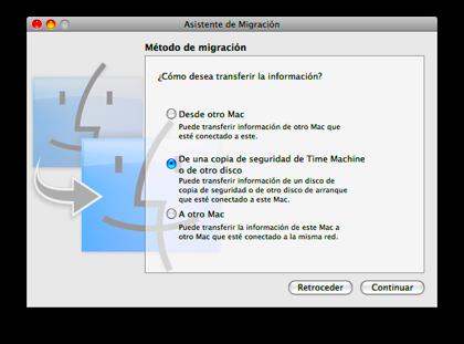 Restaura todo tu ordenador desde una copia de TimeMachine
