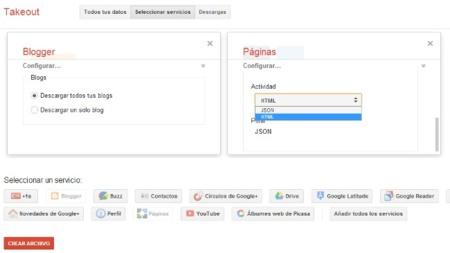 Posts en Blogger y páginas de Google+: lo nuevo que nos podemos descargar desde Google Takeout